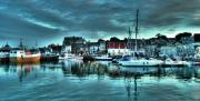 Trawler Metal Prints - Padstow Harbour at dusk Metal Print by Rob Hawkins