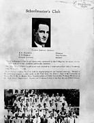 Lyndon Art - Page From The 1930 Yearbook by Everett