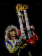 Jimmy Page Digital Art - Page by Kenneth Johnson