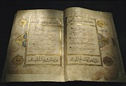 Koran Framed Prints - Pages Of A 13th Century Koran Framed Print by Kenneth Garrett