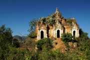 Historic Ruins Photos - Pagoda in Ruins by Michele Burgess
