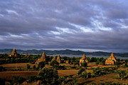 Spirituality Metal Prints - Pagodas at sunrise in Bagan Metal Print by Sami Sarkis