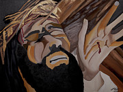 Christ Painting Originals - Paid the Price by Chelsea VanHook