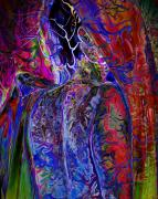 Self-portrait Digital Art - Pain Slow Death Six by Karen Musick