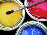 Paintbrush Photo Posters - Paint Cans Poster by Carlos Caetano