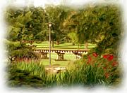 Park Scene Digital Art Prints - Paint in the Park Print by Jim  Darnall