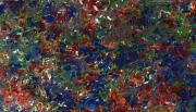 Abstract Field Prints - Paint number 1 Print by James W Johnson
