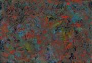 Abstract Field Prints - Paint number 17 Print by James W Johnson