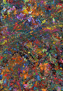 Palette Knife Metal Prints - Paint number 29 Metal Print by James W Johnson