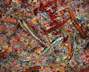 Palette Knife Metal Prints - Paint number 30 Metal Print by James W Johnson