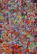 Knife Paintings - Paint number 33 by James W Johnson