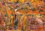 Abstract Expressionist Painting Posters - Paint Number 45 Poster by James W Johnson