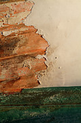 Fixing Framed Prints - Paint peeling from a boat hull Framed Print by Sami Sarkis