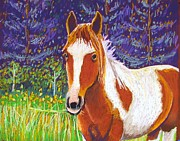 Mustang Pastels Metal Prints - Paintchip Metal Print by Harriet Peck Taylor