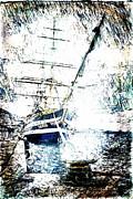 Painted Amerigo Vespucci Print by Andrea Barbieri