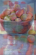 Apples Digital Art Prints - Painted Apples Print by Robert Meanor