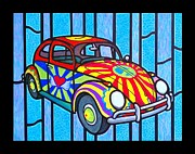 Vw Beetle Originals - Painted Beetle by Jim Harris