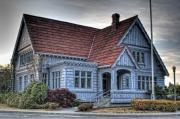 Granger Photography Photos - Painted Blue House by Brad Granger