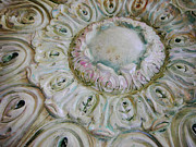 Faux Finish Framed Prints - Painted Ceiling Medallion  Framed Print by Lizi Beard-Ward