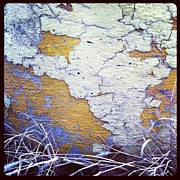 Anna Villarreal Garbis Acrylic Prints - Painted Concrete Map Acrylic Print by Anna Villarreal Garbis