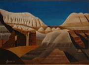Lester Glass - Painted Desert and Ruins
