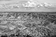 Getting Away From It All Posters - Painted Desert in B and W Poster by Melany Sarafis
