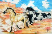 Pinto Painting Originals - Painted Desert by Monica Turner