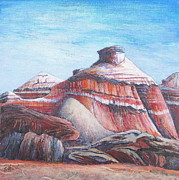 Painted Mixed Media - Painted Desert by Pamela Iris Harden