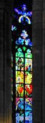 Stained Glass Windows Framed Prints - Painted glass - Alfons Mucha  - St. Vitus Cathedral Prague Framed Print by Christine Till