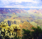 Colorado Framed Prints Posters - Painted Grand Canyon Poster by M K  Miller