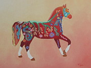 Painted Horse B Print by Sonia Stiplosek