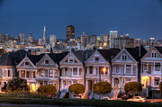 Alamo Square Framed Prints - Painted Ladies From Alamo Square Framed Print by Fuminana