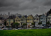 San Francisco Bay Pyrography Prints - Painted Ladies Print by John Scharle