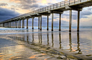 Beach Photograph Posters - Painted Pier Poster by Kelly Wade