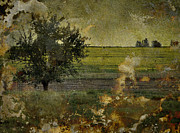 Vintage Photographs Prints - Painted Plains  Print by Jerry Cordeiro
