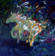 Western Abstract Painting Originals - Painted Pony by Lance Headlee