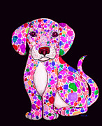 Dalmation Prints - Painted Puppy 3 Print by Nick Gustafson