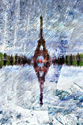 Paris Digital Art Posters - Painted Reflection Poster by Andrea Barbieri