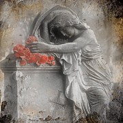 "\""stone Art\\\"" Digital Art - Painted Roses by Gothicolors With Crows"