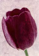 Painted Tulip Print by Zeana Romanovna