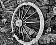 Black And White Art - Painted Wagon by Ed Boudreau