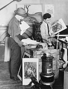 Sculptors Posters - Painter William Gropper 1897-1977 Poster by Everett