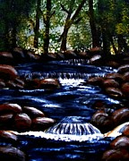 Fast Paintings - Painterly Hidden Brook by Barbara Griffin