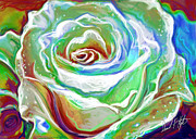 Impressionist Digital Art - Painterly Rose by David Kyte
