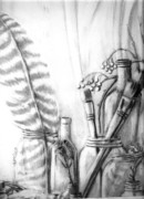 Studio Drawings - Painters Corner by Vonicia Verton