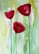 Poppies Artwork Framed Prints - Painting Class Painting Framed Print by Julie Lueders