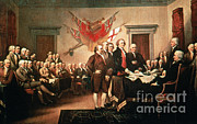 Thomas Jefferson Prints - Painting Declaration Of Independence Print by Photo Researchers, Inc.