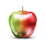 Juicy Digital Art Posters - Painting Of Apple Poster by Setsiri Silapasuwanchai