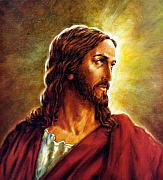 Christ Portrait Prints - Painting of Christ Print by John Lautermilch