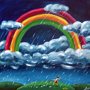 Raining Paintings - Painting Ranibows by Ira Mitchell-Kirk